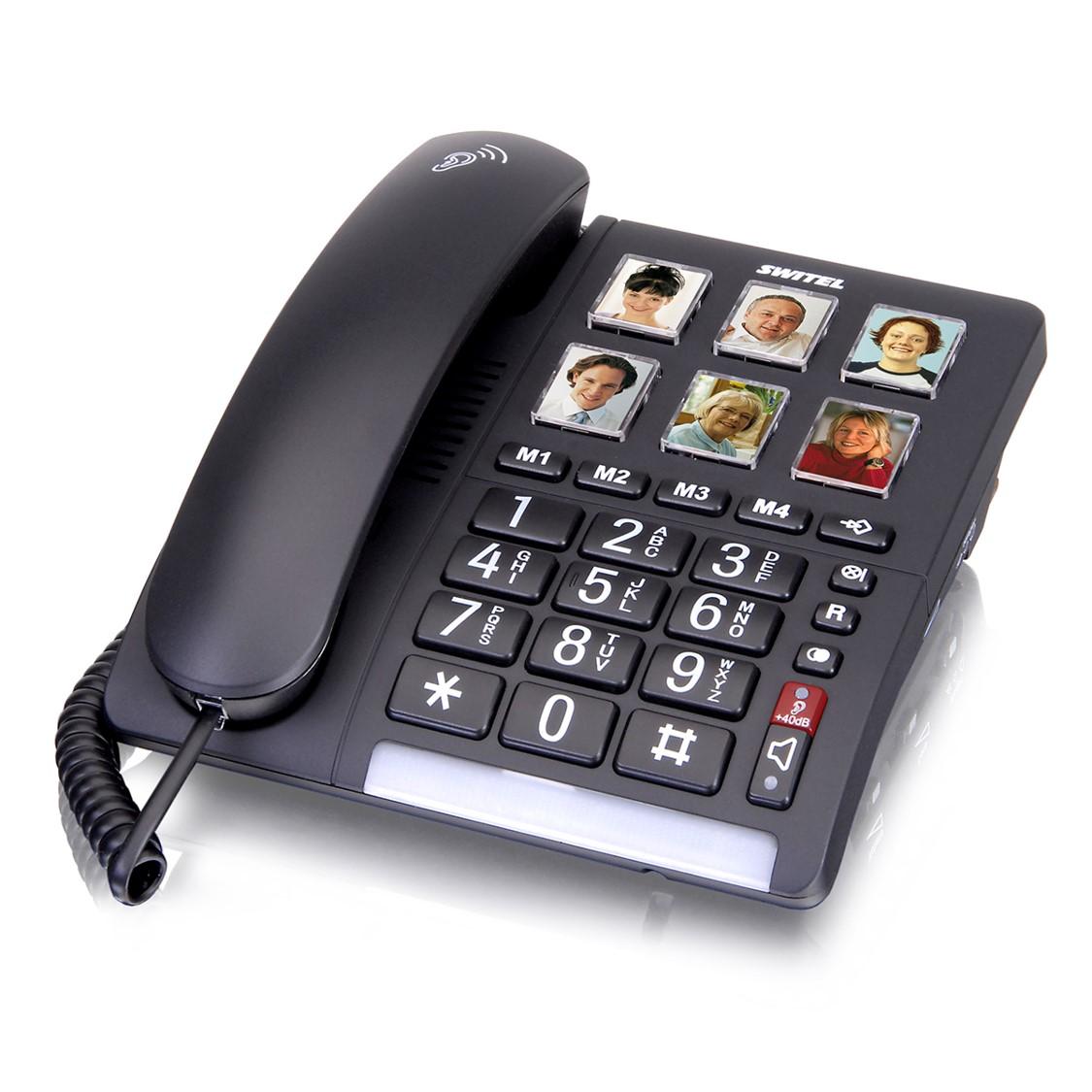 מותג חדש טלפון קווי מותאם לכבדי שמיעה וראיה TF-540 – מדיק גרופ NB-96